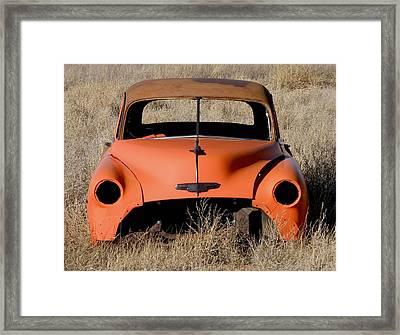 Ruby Chevrolet Framed Print by FeVa  Fotos