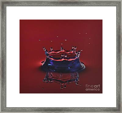 Ruby Red Crown Framed Print
