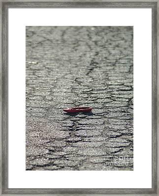 Ruby Slipper Framed Print by Bernadette Kazmarski