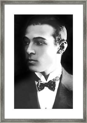 Rudolph Valentino, Ca 1921 Framed Print by Everett