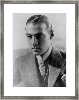 Rudolph Valentino Framed Print by Everett