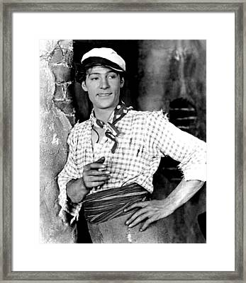 Rudolph Valentino In Blood And Sand Framed Print