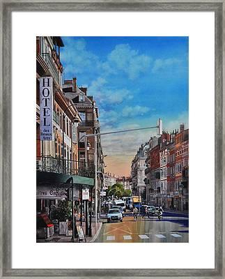 Rue De Metz In Toulouse Framed Print