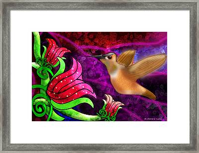 Rufous Dinner Guest Framed Print by Melisa Meyers
