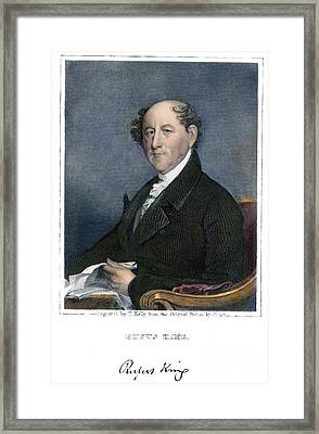Rufus King (1755-1827) Framed Print by Granger