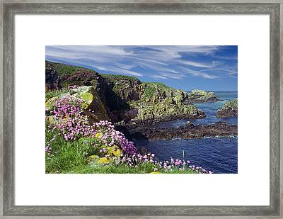 Framed Print featuring the photograph Rugged Coast by Rod Jones