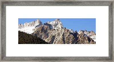 Rugged Mountain Peaks Framed Print