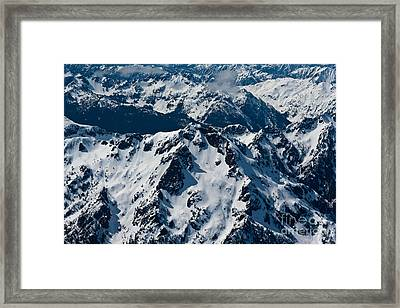 Rugged Olympic Mountains Framed Print