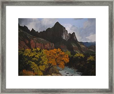 Rugged Peaks Framed Print