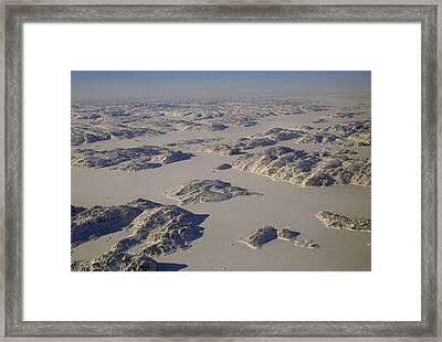 Rugged Rocky Hills Line The Edge Framed Print