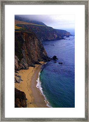 Rugged Shoreline Framed Print by Ron Regalado