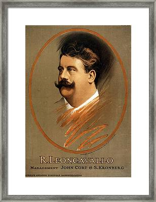 Ruggiero Leoncavallo 1858-1919 Italian Framed Print by Everett
