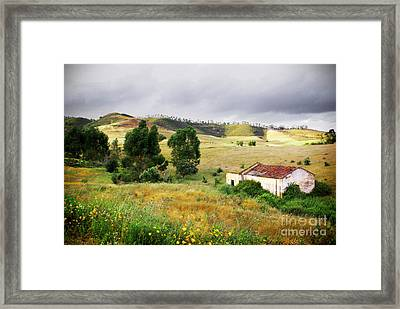 Ruin In Countryside Framed Print by Carlos Caetano