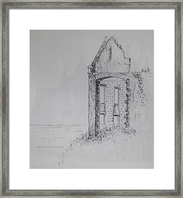 Framed Print featuring the drawing Ruin by Sheep McTavish