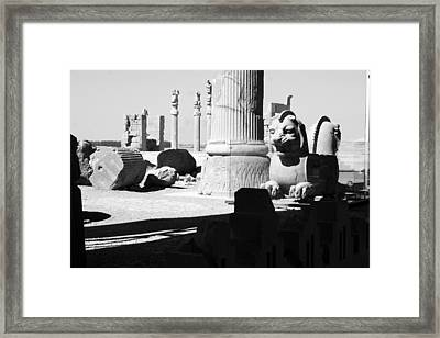 Ruins Bw Framed Print by Tia Anderson-Esguerra