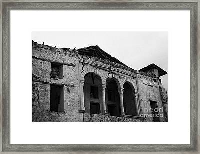 ruins in the grounds of the armenian church and monastery of notre dame de tyre nicosia TRNC Framed Print by Joe Fox