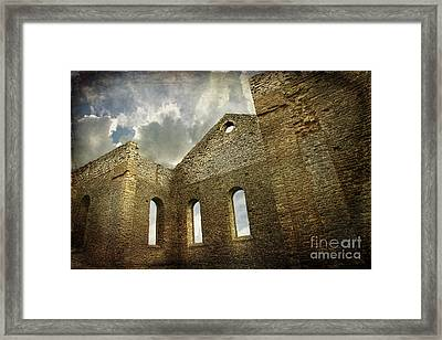 Ruins Of A Church In Ontario Framed Print