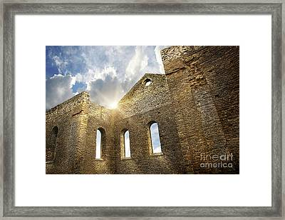 Ruins Of A Church In South Glengarry Framed Print