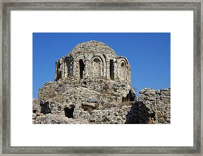 Ruins Of Byzantine Basilica Alanya Castle Turkey Framed Print by Matthias Hauser