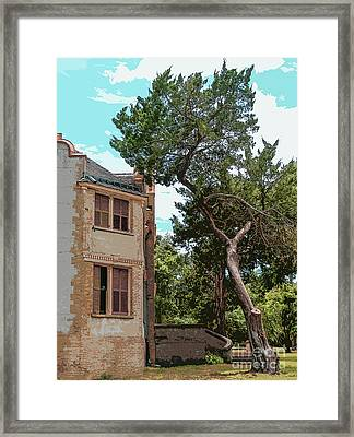 Ruins Of Jekyll Island By Ginette Framed Print