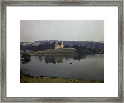 Ruins Of Linlithgow Palace Reflect Framed Print by B. Anthony Stewart