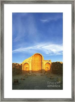 Ruins Of Shivta Byzantine Church Framed Print