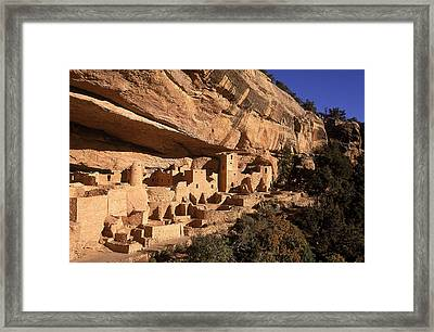 Ruins Of The Anasazi Cliff Palace Framed Print by Ira Block