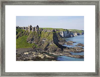 Ruins On Coastal Cliff Framed Print by Patrick Swan
