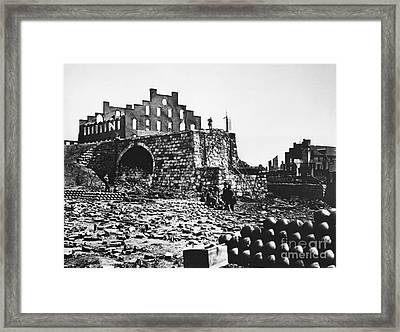 Ruins Framed Print by Photo Researchers