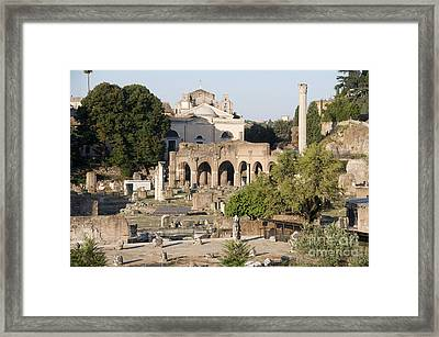Ruins. Roman Forum Framed Print by Bernard Jaubert