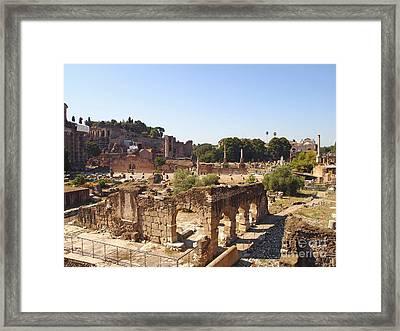 Ruins. Roman Forum. Rome Framed Print by Bernard Jaubert