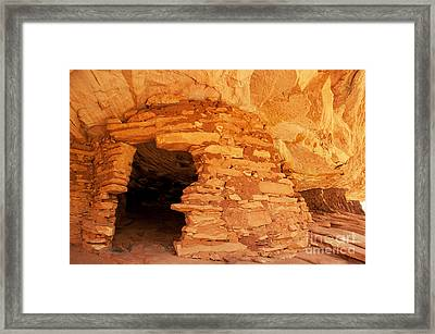 Ruins Structure Framed Print by Bob and Nancy Kendrick