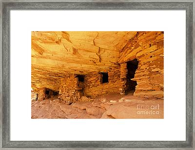 Ruins Structures Framed Print by Bob and Nancy Kendrick