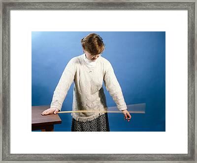 Ruler Vibrating Framed Print by Andrew Lambert Photography