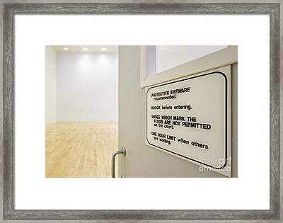 Rules For Gymnasium Framed Print