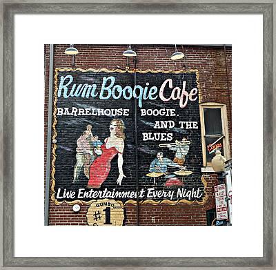 Rum Boogie Cafe Framed Print