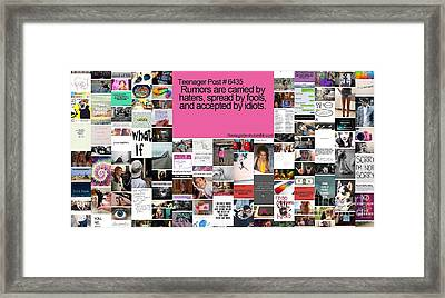 Rumors Equal Haters Framed Print by Holley Jacobs