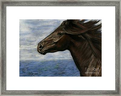 Framed Print featuring the painting Run Free by Sheri Gordon