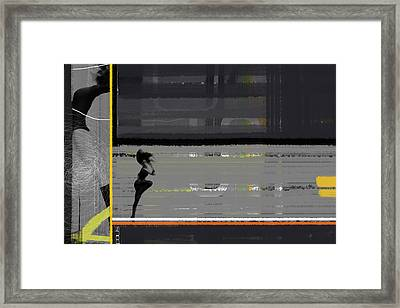 Run Framed Print by Naxart Studio