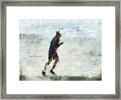 Run Rabbit Run Framed Print by Steve Taylor