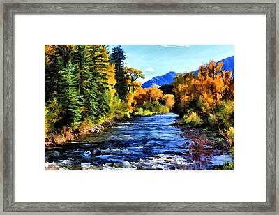 Framed Print featuring the photograph Run River Run by Brian Davis