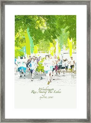 Run Walk Poster Framed Print