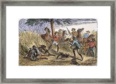 Runaway Slave Framed Print by Granger