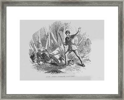 Runaway Slave With Armed Slave Catcher Framed Print by Everett