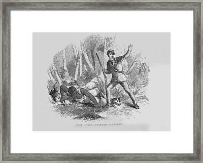 Runaway Slave With Armed Slave Catcher Framed Print