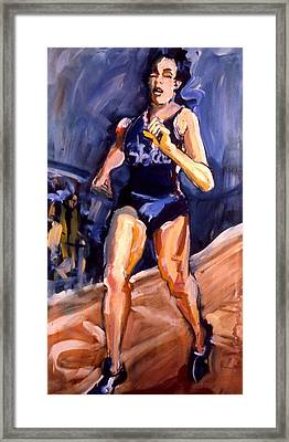 Framed Print featuring the painting Runner by Les Leffingwell