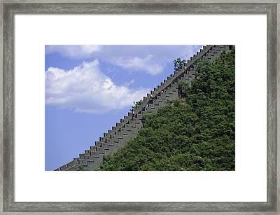 Runners In The Great Wall Marathon Framed Print by Michael S. Yamashita