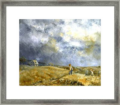 Running Home Framed Print by Marie Green