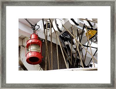 Running Light Red Framed Print
