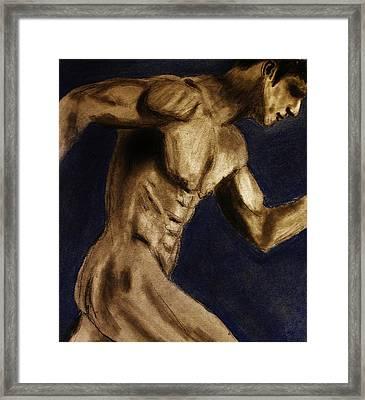 Running Man Framed Print by Michael Cross